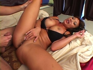 Busty Asian predator gets well stretched