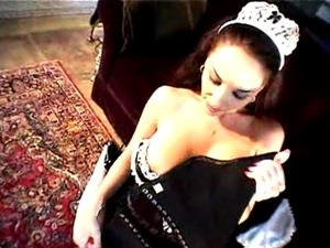 Commanding a busty hot maid