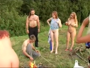 Hot Russian outdoor party   Red ... free