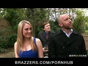 HOT bridesmaid Tanya Tate fucks Phoenix Marie with big strap-on
