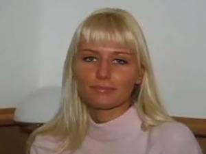 Hardcore casting blonde teen Magdelena