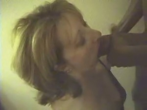 White wife whore eats black cock and cum