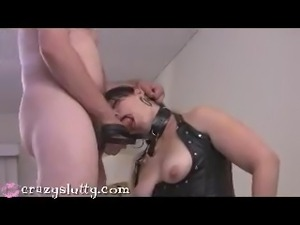 CrazySlutty sex slave throatfucked!