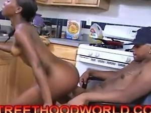 FULL VIDEO  Amateur ebony kitchen fuck