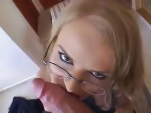 Blonde Euro secretary is the office slut banging all the boys