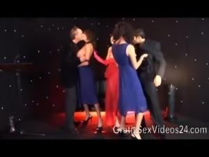 Tia Layne hot GangBang at TV-Show