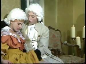 A horny Mozart bangs a lusty blonde princess and joins in for some group action