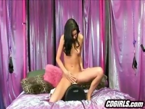 Skinny Tanner Rides The Sybian