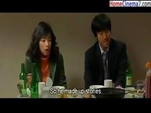 Korean video of a young couple going through a tough time with their sex life