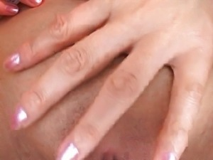 Busty Japanese chick gets cunt toyed