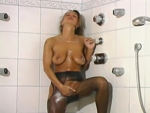 Big boobs young slutty German MILF banged by her colleague and sucking white...