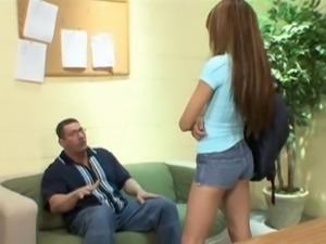 Naughty schoolgirl punished pussy
