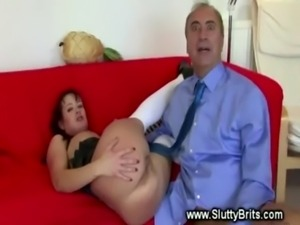 Sexy slut pussy fucked by old g ... free