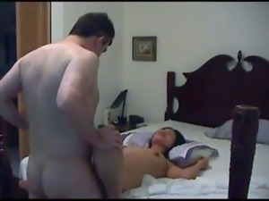 Skinny Vietnamese housewife gets her tight twat tickled by her husband's dick