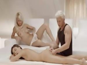 Unbelievable Sweden fairhairs threesome