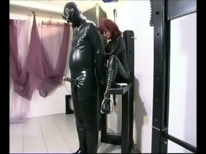 Redhead domina satisfying her needs free