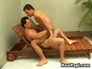 Gay Papi Gets Guy Cock and Cum