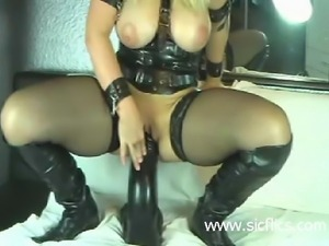 Horny amateur mil needs colossal giga dongs to stretch her huge cavernous cunt