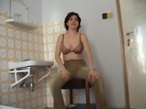 Melinda filmed for the first time having sex