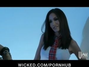 Sexy young schoolgirl Randi Wright strips & fucks her boyfriend