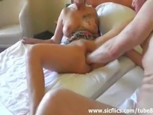 Hot blond fisted in her loose pussy