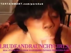 EBONY TEEN FROM THE BX TAG TEAMED AND VIOLATED PUSSY GAPED