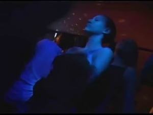Two bisexual girls in a party (Gloryhole)