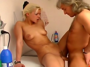 Steamy hardcore action featuring one horny blond that rides cock and gets a...