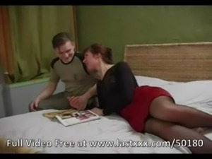 Small tits milf in stocking banged free