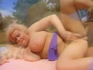 Oh my god! She has enormous tits! This guy is very lucky as he gets chance to...