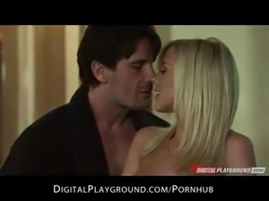 HOT blonde girlfriend Bibi Jones is stripped & banged by her BF