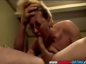 Hot blowjob of mature amateur