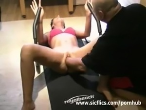 Fist my pussy while i workout my abs