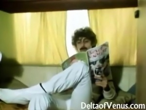 Retro Porn 1970s - Hairy Pussy German Girl - Camper Coupling