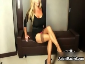 Rachel Aziani with her big tits ... free