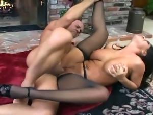 Busty brunette bombshell in stockings jenaveve in notorious fuck