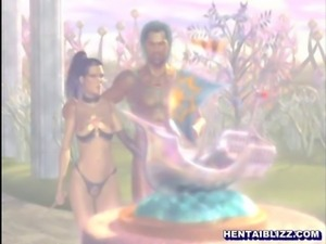 3d hentai girl hot sucking ghetto bigcock in the outdoor