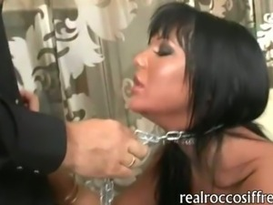 Filthy slut Angelica Heart extreme anal fucking with 2 huge dicks