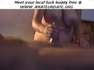 Amateur busty boobs bbw handjob ... free