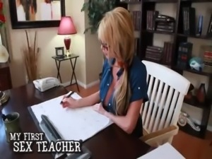 Busty hot blonde cougar teacher ... free