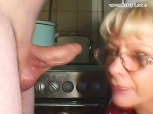 Marcella fisting in the kitchen