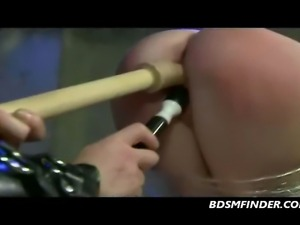 Redhead in submission gets whipped and masturbated