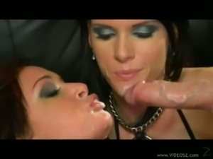 Tory lane and jennifer dark fucked hard in leather orgy