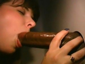 Wife fucks bbc at gloryhole