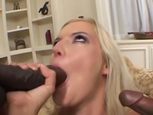 Blonde milf from Czech Republic does interracial anal and DP.
