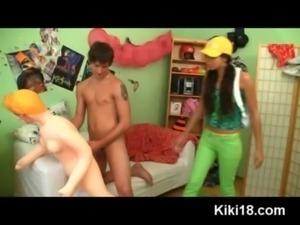 Teen Kiki caught her friend fuc ... free