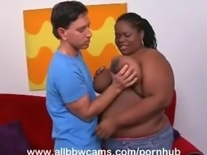 Plump Chick Jams Stud in Her Fat Vagina Part 2