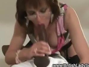 Mature brit femdom interracial blowjob cum facial