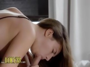 french busty brunette fucking in bedroom