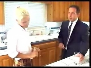 Jodi Moore BJ, rough sex cum on BOX all in the kitchen